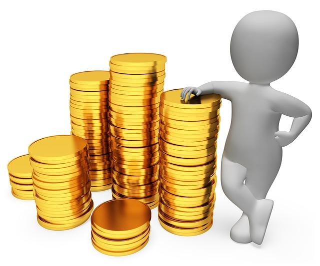 panáček, komínky mincí