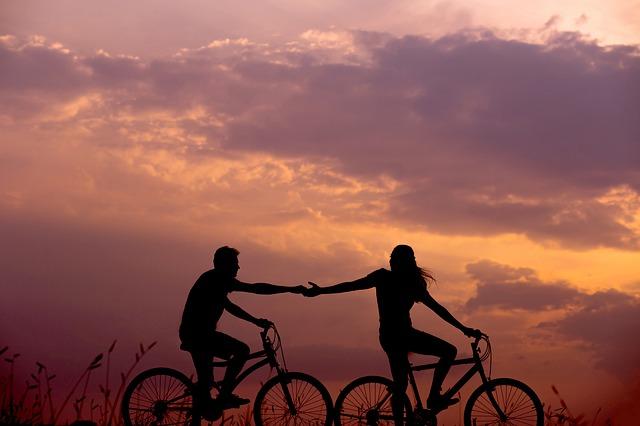zamilovaní cyklisti