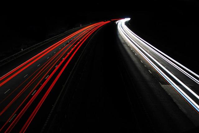 Dlouhá expozice nočního provozu