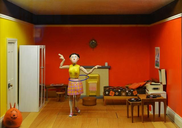Interiér domku pro panenky