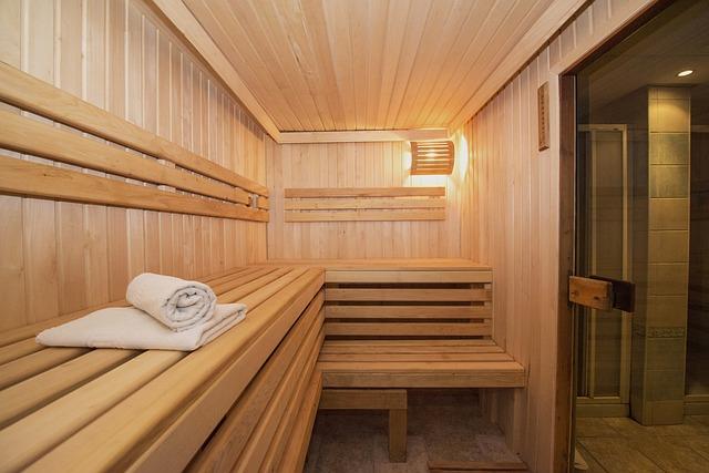 odpočinek v sauně